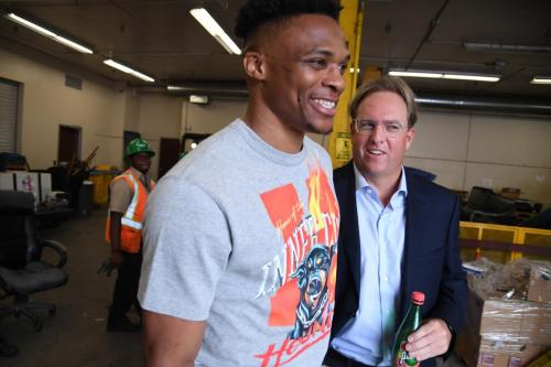 Chad Brownstein and Russell Westbrook LA Conservation Corps partnership