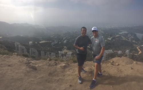 Hiking the Hollywood Canyon with Hon. Mayor Antonio Villaraigosa.
