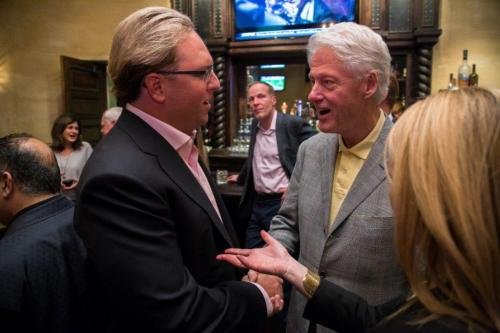 Chad Brownstein meets with President Bill Clinton