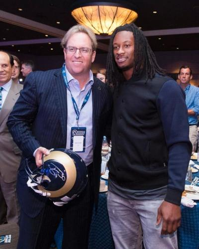 Chad Brownstein with Los Angeles Rams RB Todd Gurley