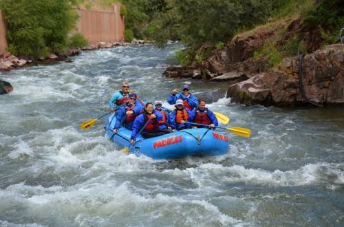 Chad Brownstein white water rafting with former Treasury Secutary Tim Geithner
